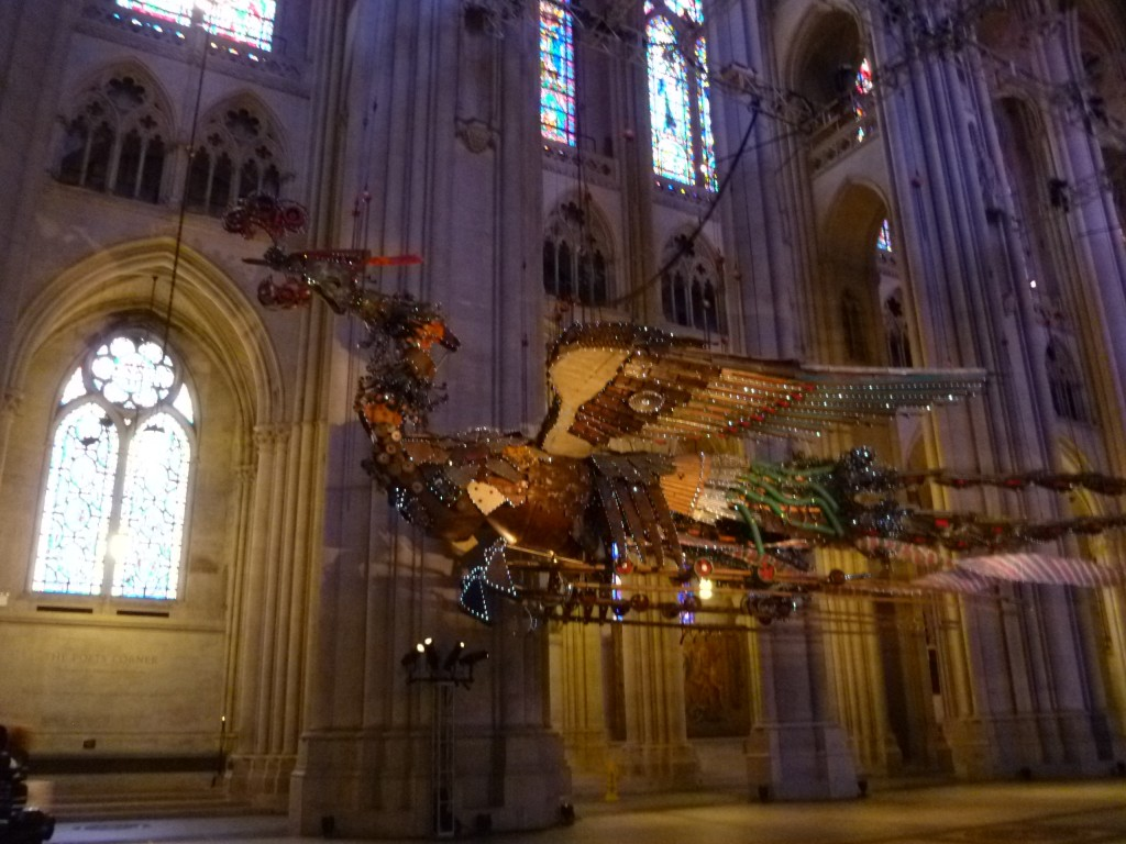 P1140990 1024x768 Xu Bings Phoenixes at St. John the Divine