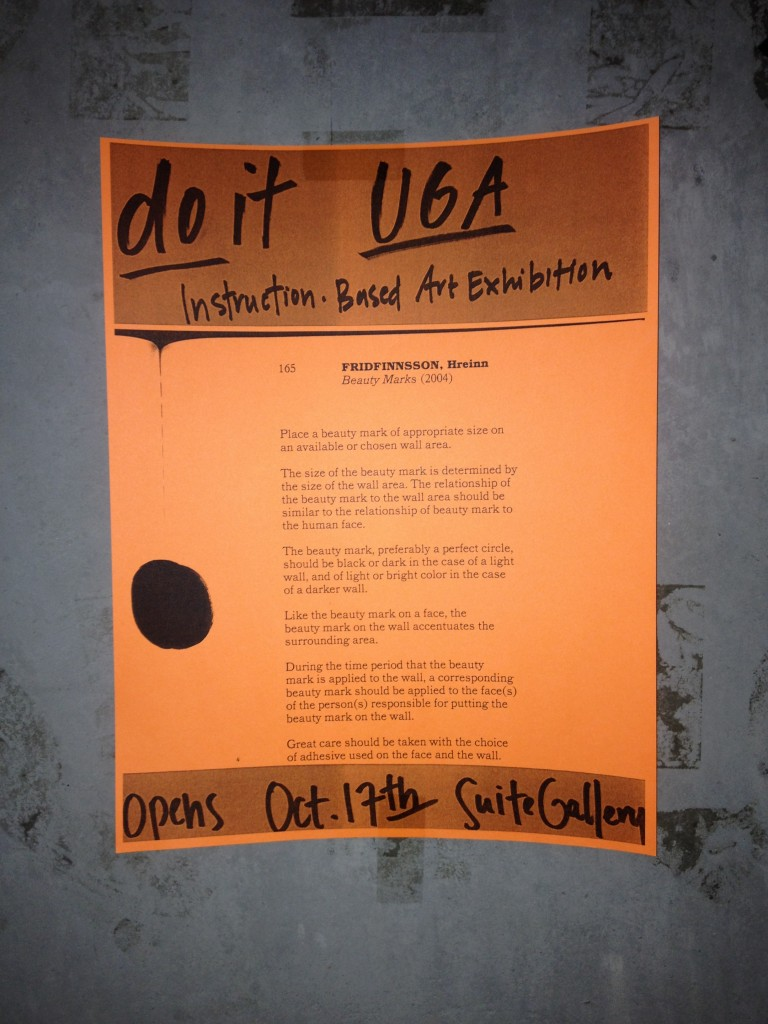 IMG 3211 768x1024 Opening Tonight: my Instruction based Curatorial Project do it UGA