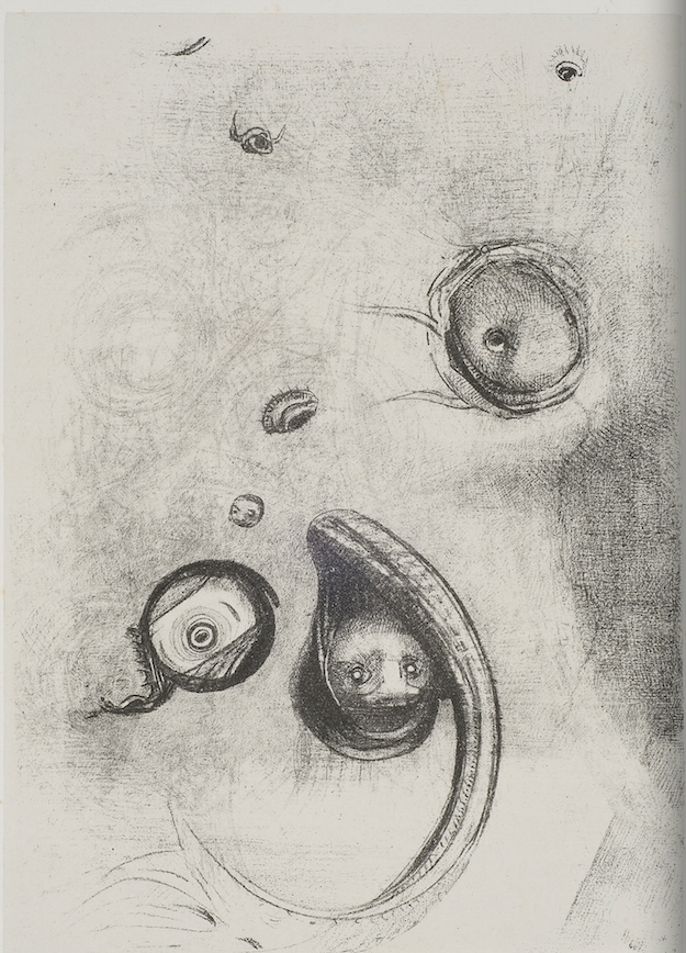 Redon_Plate 13_...And eyes that without heads were floating like mollusks
